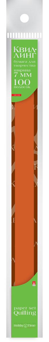 Альт Бумага для квиллинга 7 мм 100 полос цвет коричневый