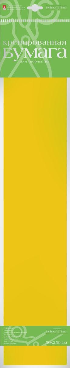 Альт Бумага креповая Флюоресцентная цвет желтый2-059/03Креповая бумага Альт Флюоресцентная - подходящий материал для декора, объемных украшений и игрушек. Гофрированная жатая поверхность обеспечивает особую пластичность. Бумага не деформируется, сохраняет заданную форму, отлично сочетается с текстильными лентами, декоративными элементами. Необычный флуоресцентный эффект создает легкое сияние, которое поможет создать атмосферу праздника. Размер листа: 50 см х 250 см.
