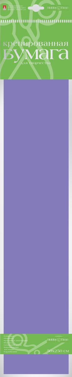 Альт Бумага креповая цвет синий бумага художественная альт бумага с орнаментом тишью 10 листов горошек голубой фон