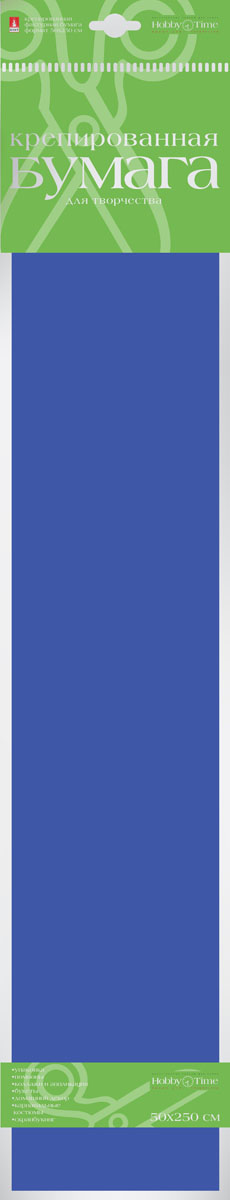Альт Бумага креповая цвет ярко-синий бумага художественная альт бумага с орнаментом тишью 10 листов горошек голубой фон