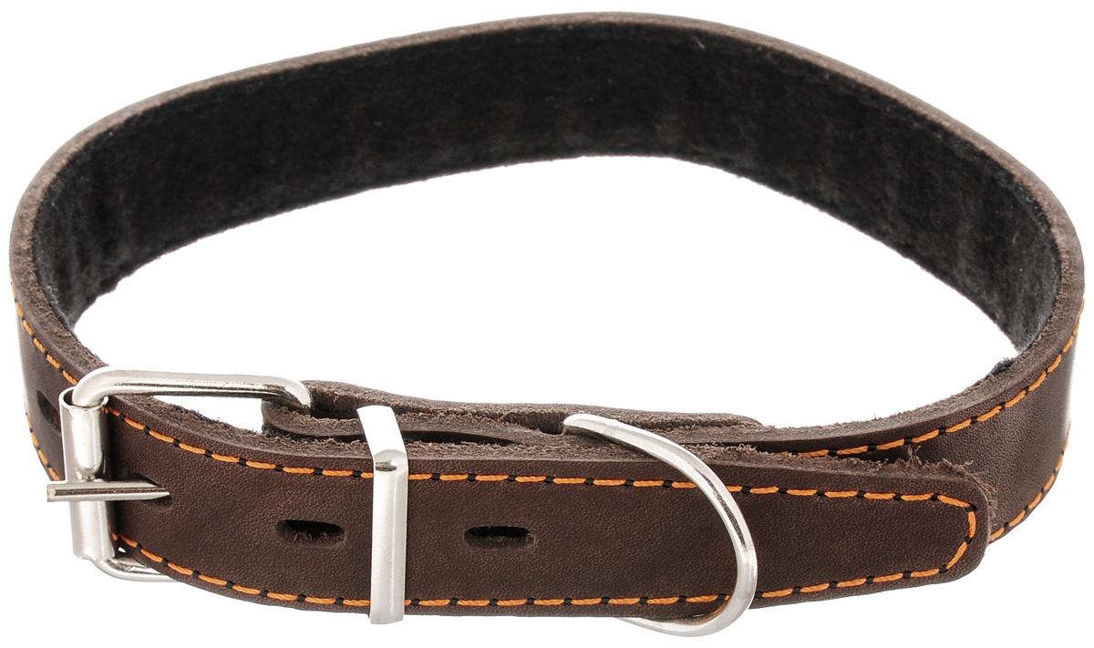 "Ошейник для собак Каскад ""Классика"", ширина 2,5 см, обхват шеи 39-46 см. 00025012к"