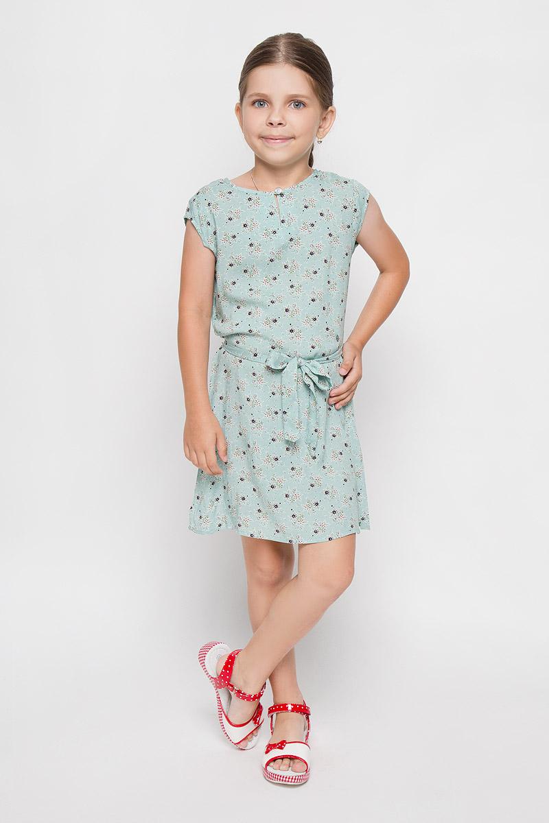 Платье для девочки Finn Flare Kids, цвет: ментоловый. KS16-71061J. Размер 122, 6-7 лет finn flare marine 110 122 р ры
