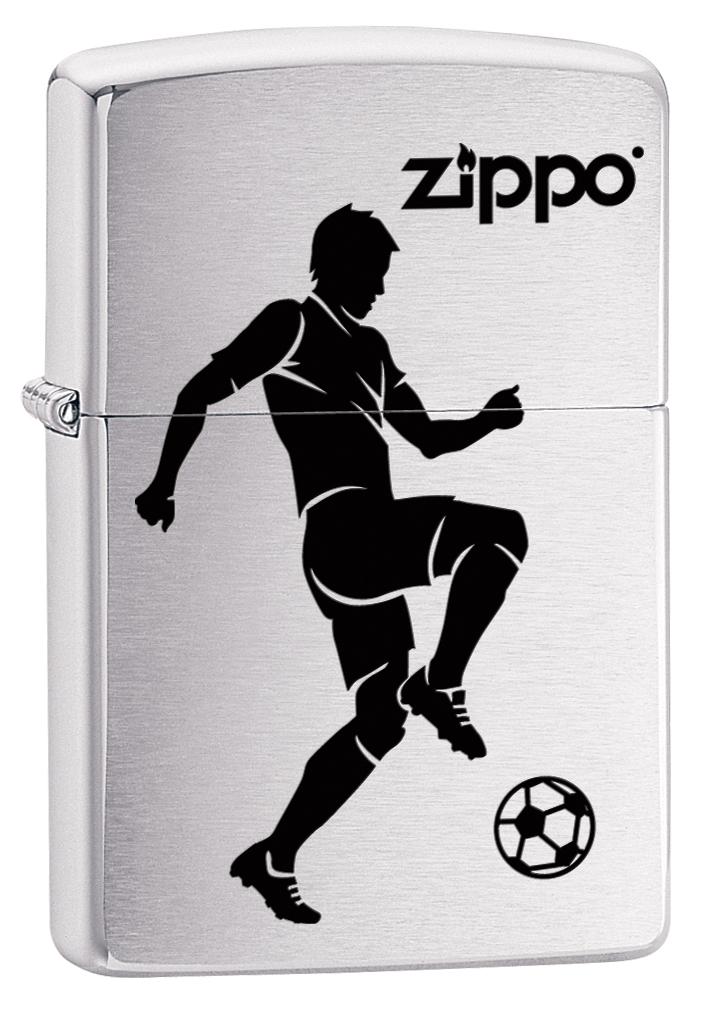 """Зажигалка Zippo """"200 Soccer Player"""", 3,6 х 1,2 х 5,6 см"""