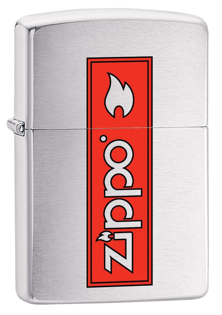 Зажигалка Zippo 200 Zippo Logo, 3,6 х 1,2 х 5,6 см. 29203 зажигалка zippo zippo zippo zippo
