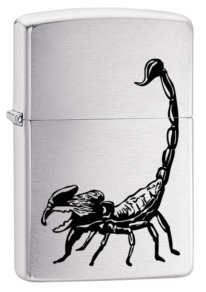 Зажигалка Zippo 200 Scorpion, цвет: серебристый. 29204