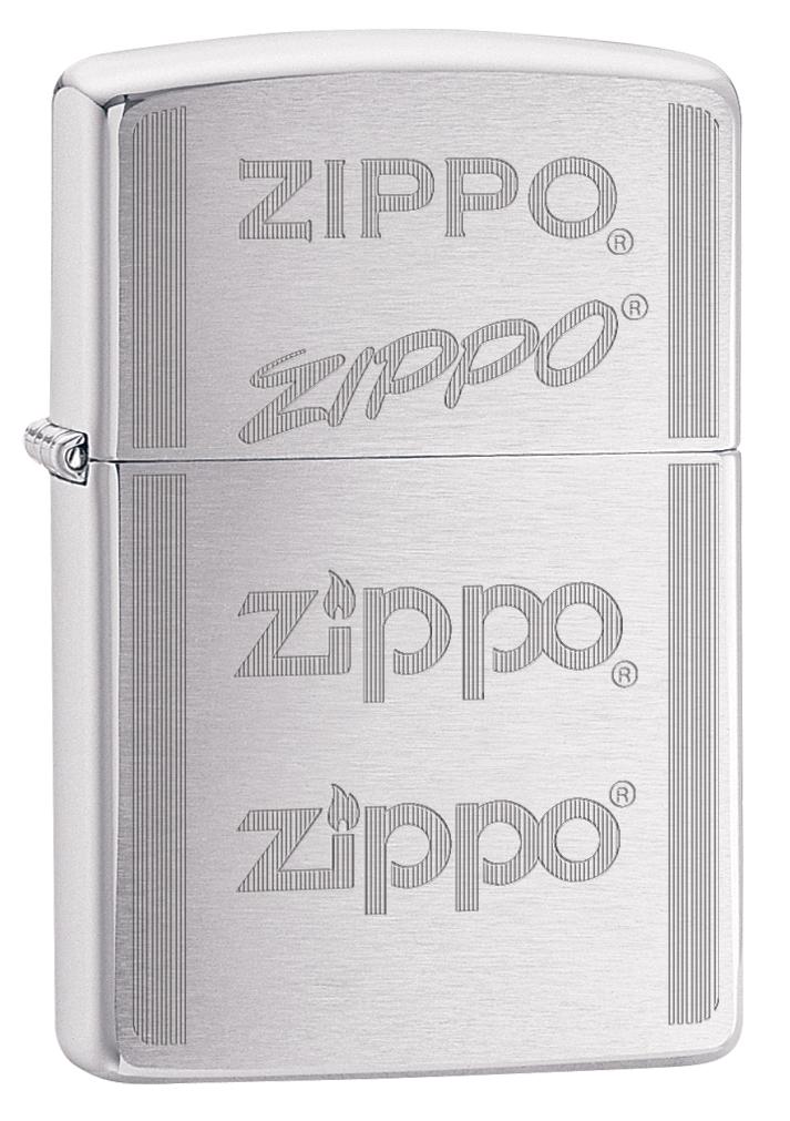 Зажигалка Zippo 200 Zippo Logo, 3,6 х 1,2 х 5,6 см. 29214 zippo зажигалку в архангельске