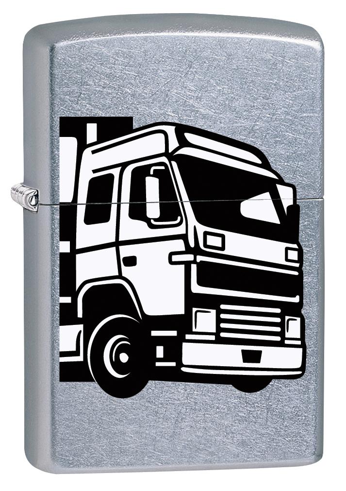 """Зажигалка Zippo """"207 European Truck"""", 3,6 х 1,2 х 5,6 см"""