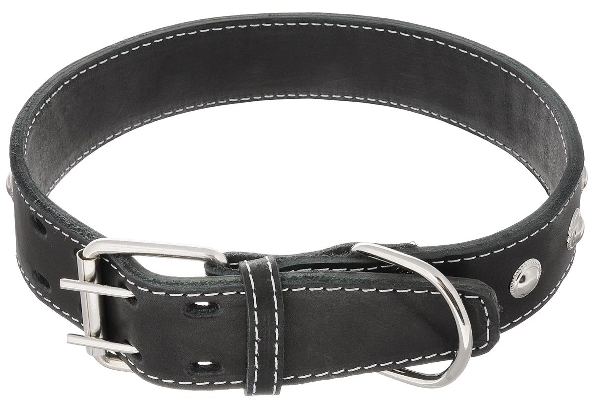 """Ошейник для собак Каскад """"Классика"""", двойной, ширина 4,5 см, обхват шеи 57-66 см. 00045021ч"""