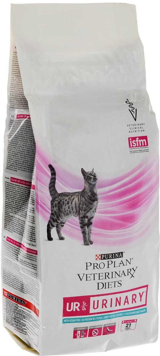 """Корм сухой Pro Plan """"Veterinary Diets. UR"""" для кошек, при МКБ, с океанической рыбой, 1,5 кг"""