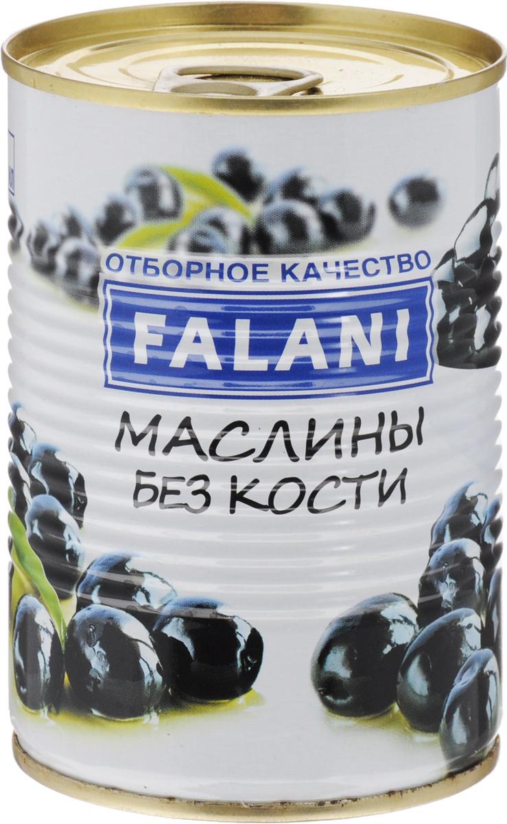 FALANI маслины отборные крупные без косточки, 390 г