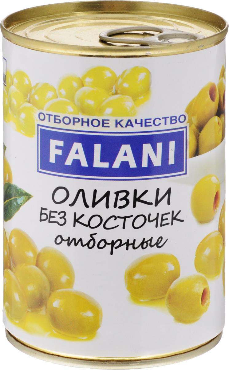 FALANI оливки отборные крупные без косточки, 390 г оливки зелёные delphi без косточки в рассоле 350 г