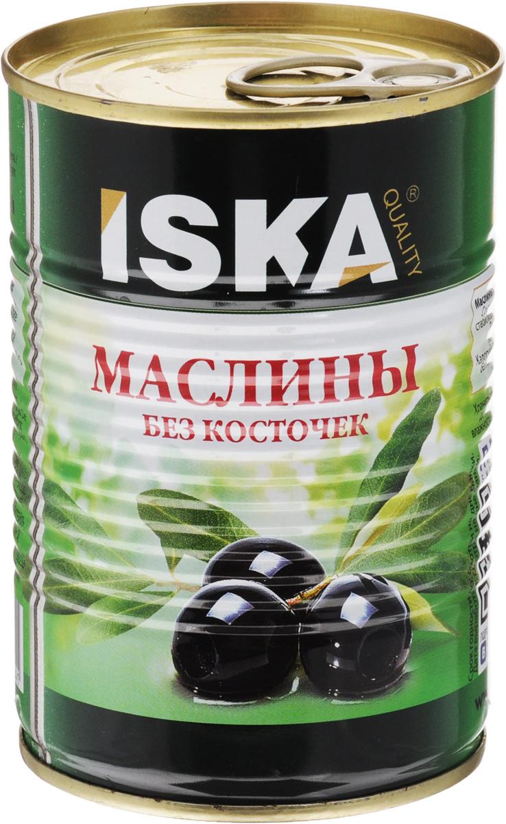 ISKA маслины отборные крупные без косточек, 390 г iska фасоль белая 425 г