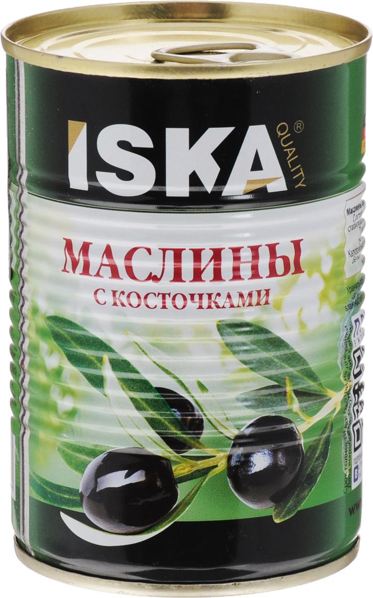 ISKA маслины отборные крупные c косточкой, 390 г iska фасоль белая 425 г