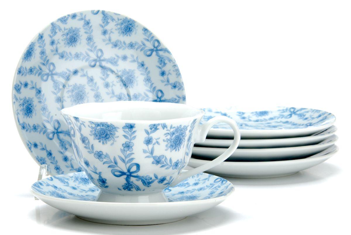 Чайный сервиз Loraine Цветы, 150 мл, 12 предметов. 25919 creative набор для творчества украшаем чайный сервиз