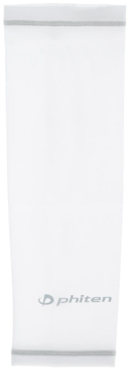 Рукав силовой Phiten X30, цвет: белый, серый. Размер L (26-32 см). SL523205SL523205Силовой рукав Phiten X30, выполненный из 85% полиэстера и 15% полиуретана, идеально подходит для поддержки и увеличения силы мышц (плеча/предплечия) спортсменов. Рукав снимает мышечное напряжение, повышает выносливость и силу мышц. Он мягко фиксирует суставы, но при этом абсолютно не стесняет движения.Пропитка Aqua Titan с фактором X30 увеличивает эластичность мышц и связок, а также хорошо поглощает и испарять пот, что позволяет продлить ощущение комфорта при тренировках.Изделие специально разработано таким образом, чтобы соответствовать форме руки и обеспечить плотное прилегание, а благодаря инновационным материалам, рукав действительно поможет вам в процессе тяжелой тренировки или любой серьезной нагрузки.Силовой рукав Phiten X30 способствует:- улучшению циркуляции крови в организме;- разгрузке поврежденного сустава; - уменьшению усталости;- снятию излишнего напряжения и скорейшему восстановлению сил;- обеспечивает компрессионный эффект.