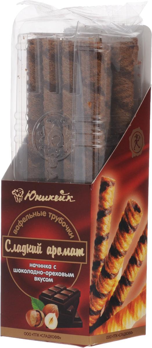 Юникейк Сладкий аромат вафельные трубочки с шоколадно-ореховой начинкой, 180 г twisties вафельные трубочки с кофейным кремом эспрессо 400 г