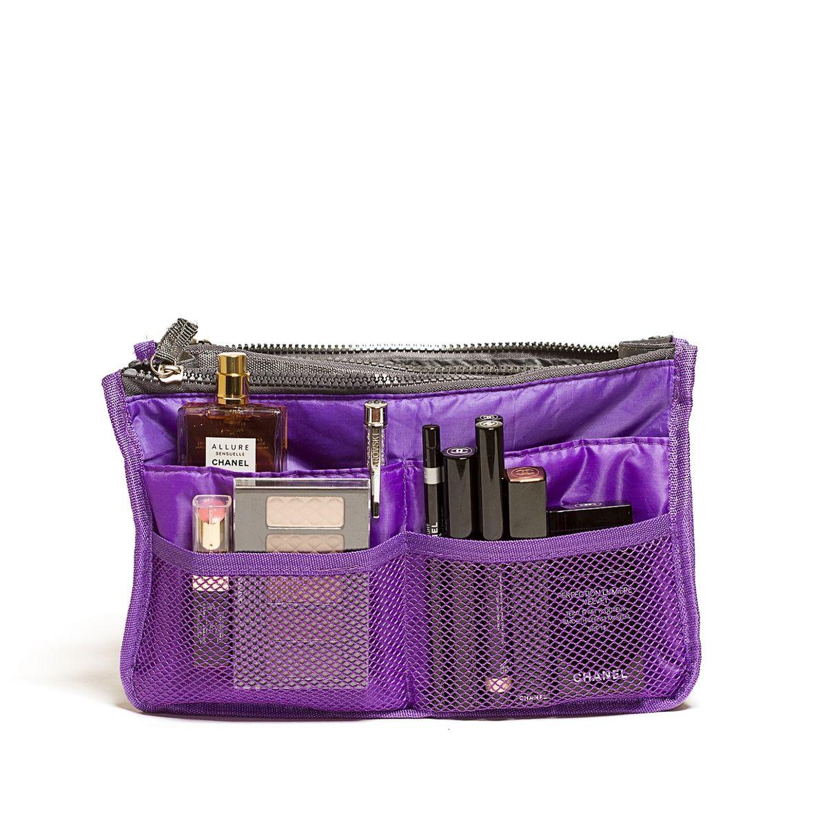"""Органайзер для сумки """"Homsu"""" выполнен из  полиэстера и текстиля. Этот органайзер для сумки  имеет три  вместительных отделениях для вещей, четыре  кармашка по бокам и шесть кармашков в виде сетки.  Такой органайзер обеспечит  полный порядок в вашей сумке. Данный аксессуар  обладает быстрой регулировкой толщины с помощью  кнопок. Органайзер оснащен двумя  крепкими ручками, что позволяет применять его и вне  сумки."""