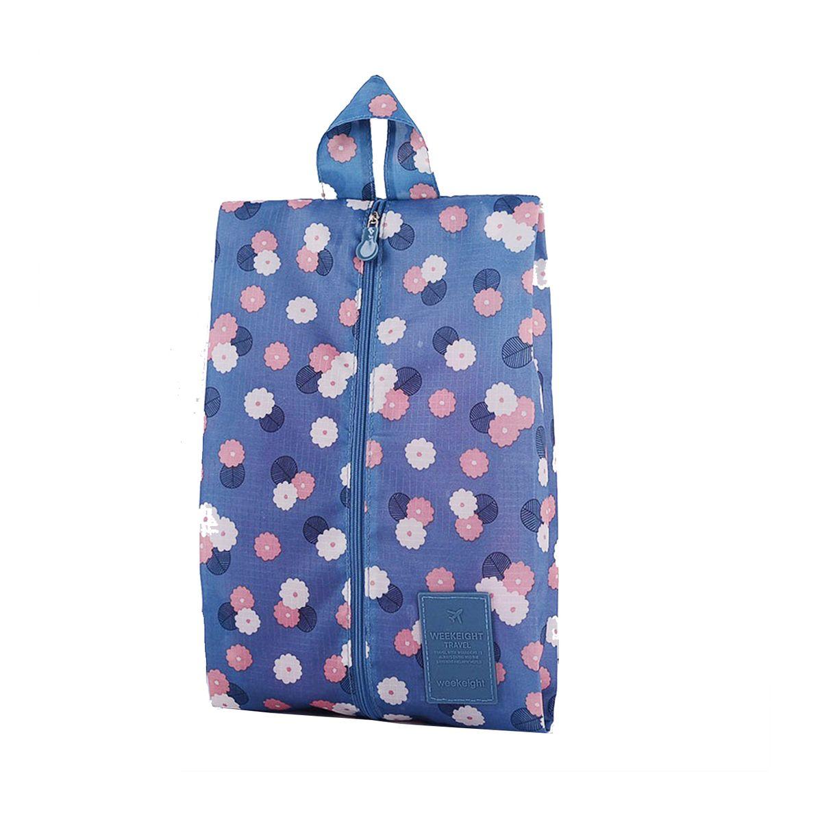 Чехол для обуви Homsu  Цветок , цвет: синий, белый, розовый, 35 x 21 x 9 см - Полезные мелочи