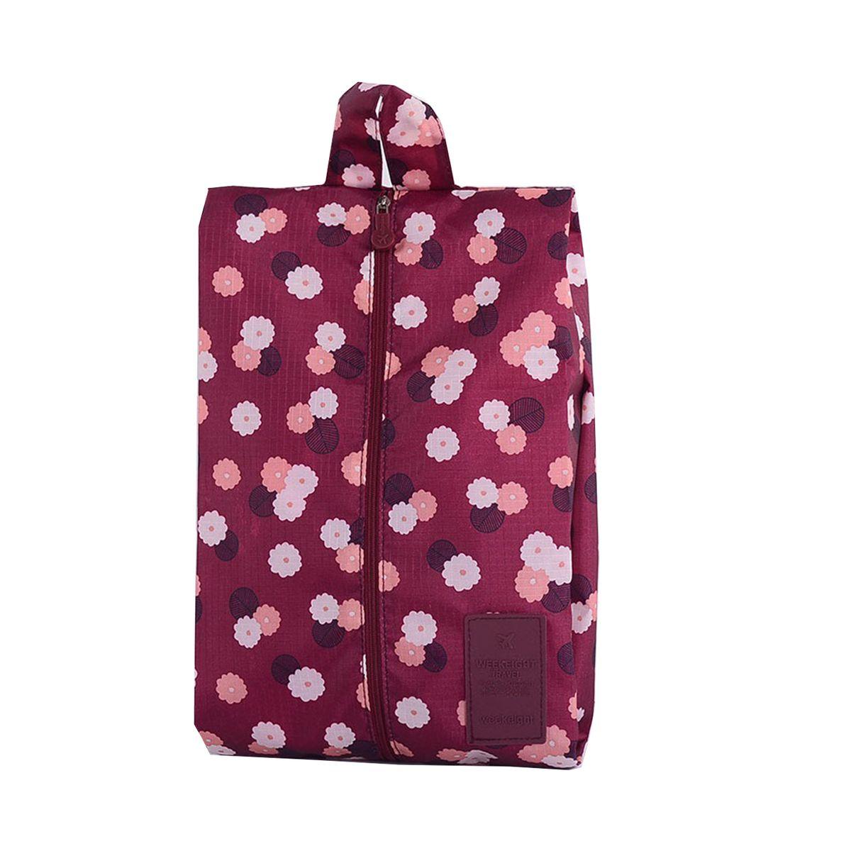 Чехол для обуви Homsu  Цветок , цвет: бордовый, белый, розовый, 35 x 21 x 9 см - Полезные мелочи