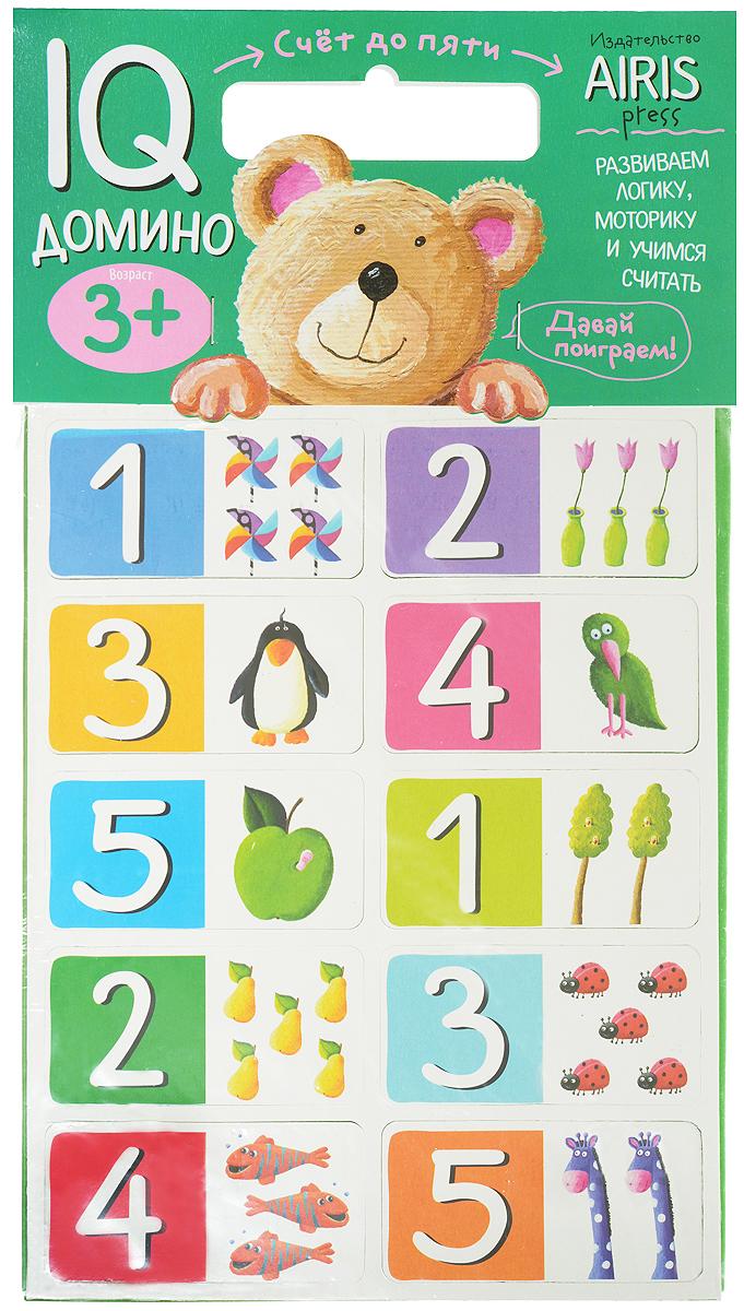 Айрис-пресс Обучающая игра Домино Счет до пяти набор для игры карточная айрис пресс iq карточки развиваем мышление 25624