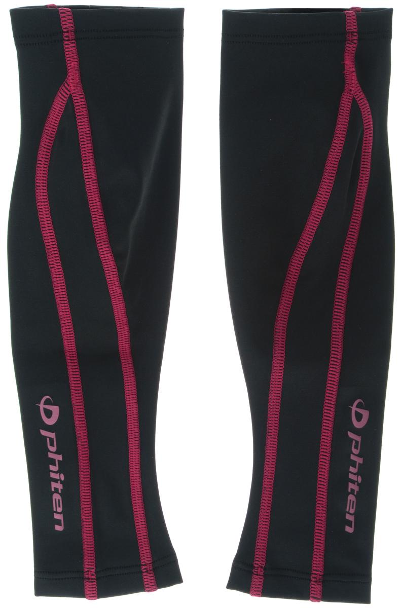 Гетры силовые Phiten  X30 , цвет: черный, красный. Размер S (30-37 см). SL536103 - Единоборства