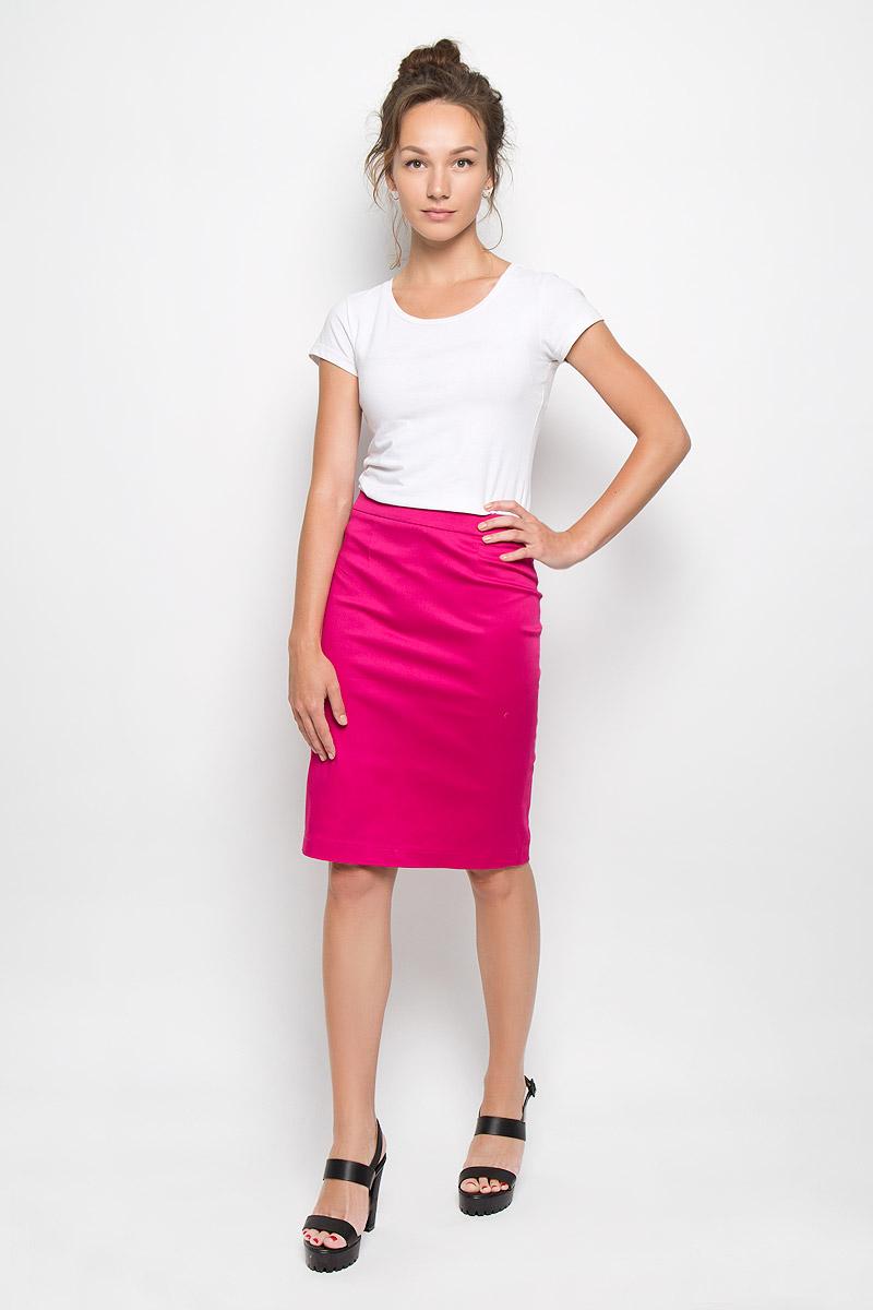 Юбка Milana Style, цвет: фуксия. 20416. Размер XL (50)20416Эффектная юбка Milana Style выполнена из хлопка с добавлением полиамида, она обеспечит вам комфорт и удобство при носке. Такой материал обладает высокой гигроскопичностью, великолепно пропускает воздух и не раздражает кожу.Однотонная юбка-миди сзади застегивается на потайную застежку-молнию. Также сзади юбка дополнена шлицей. Модная юбка выгодно освежит и разнообразит ваш гардероб. Создайте женственный образ и подчеркните свою яркую индивидуальность! Классический фасон и оригинальное оформление этой юбки позволят вам сочетать ее с любыми нарядами.