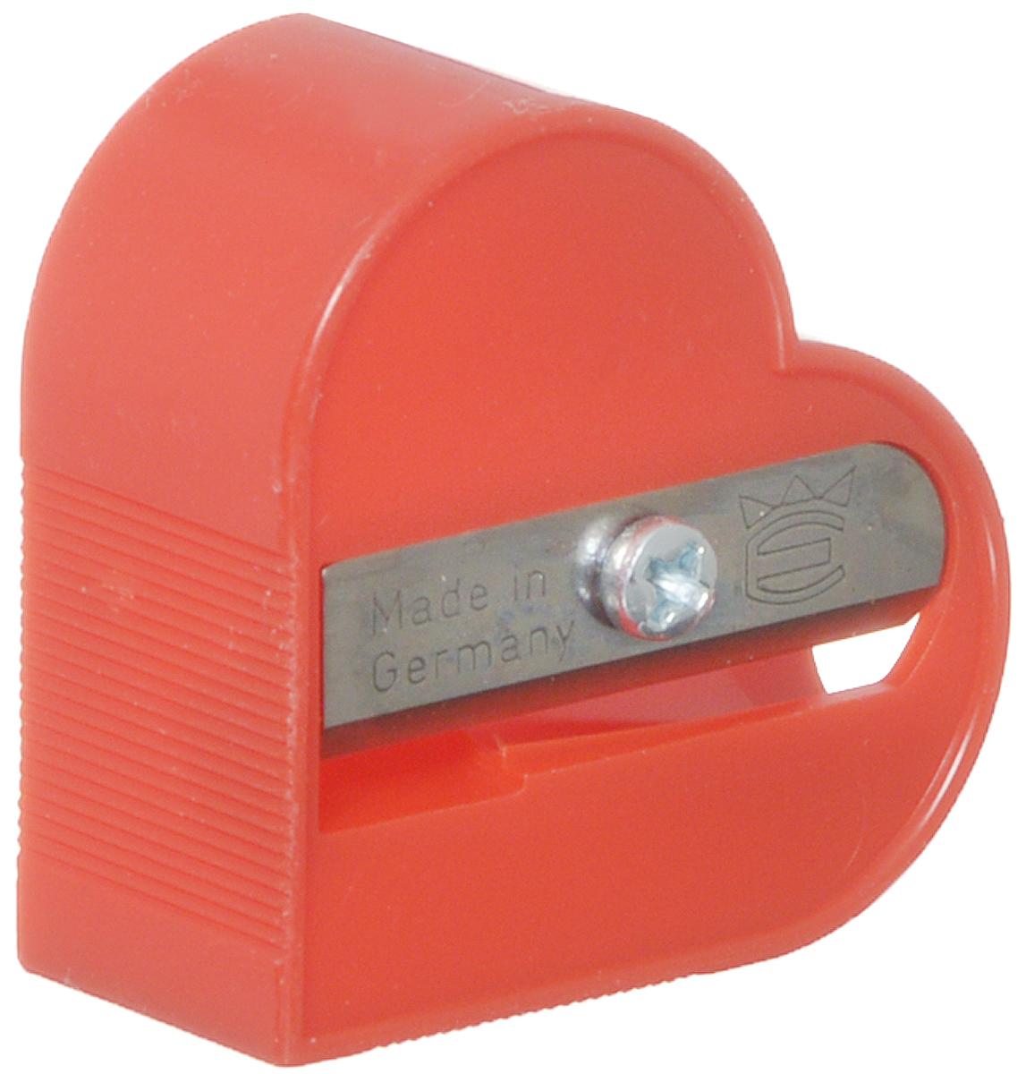 Eisen Точилка Сердце цвет красный111.01.999/BL_красныйТочилка Eisen Сердце предназначена для затачивания классических простых и цветных карандашей.Точилка изготовлена из качественного материала и имеет рельефную область захвата. Острые лезвия обеспечивают высококачественную и точную заточку карандашей.