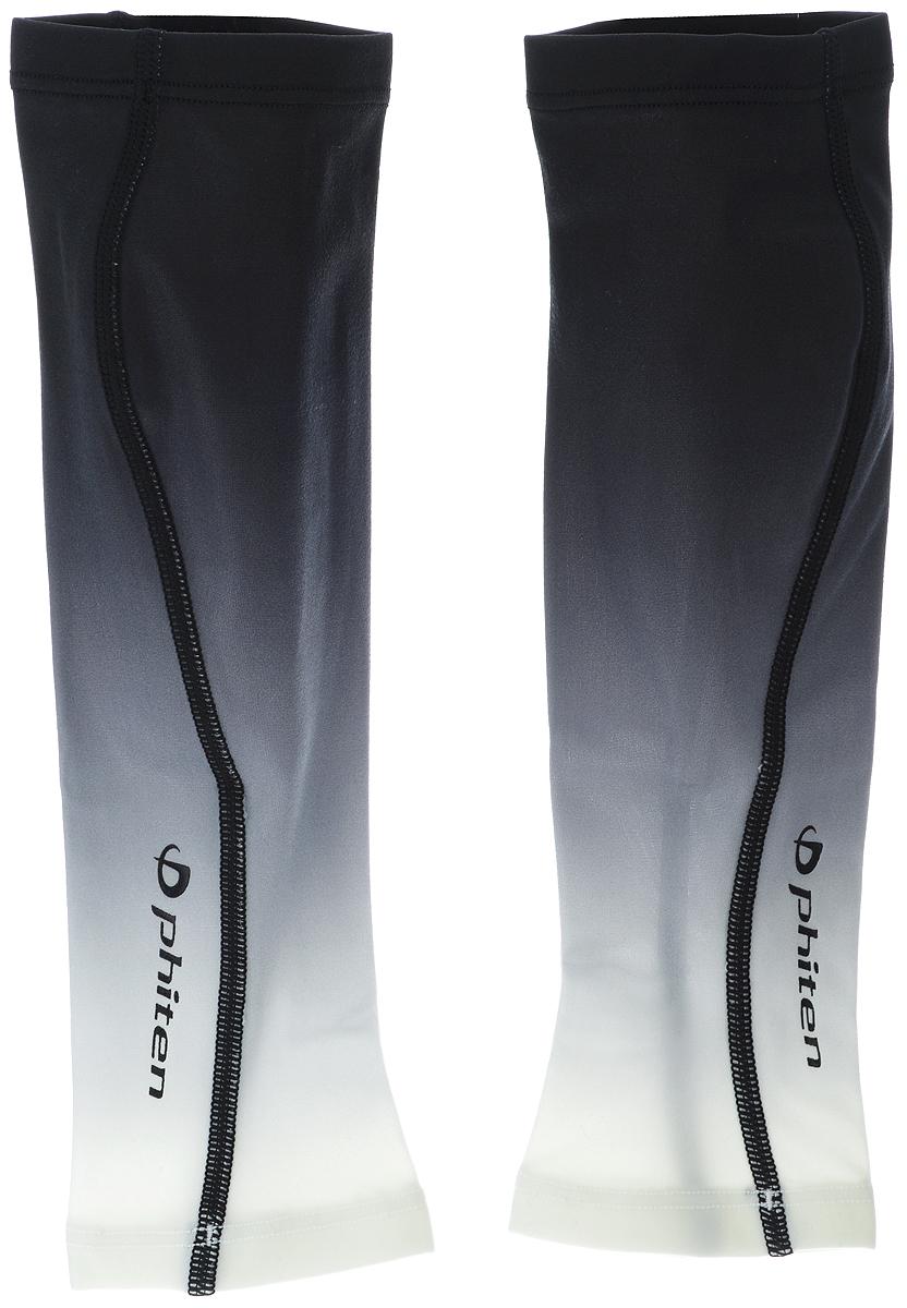 """Гетры силовые Phiten """"X30"""", цвет: черный, серый, белый. Размер М (33-40 см). SL529004"""