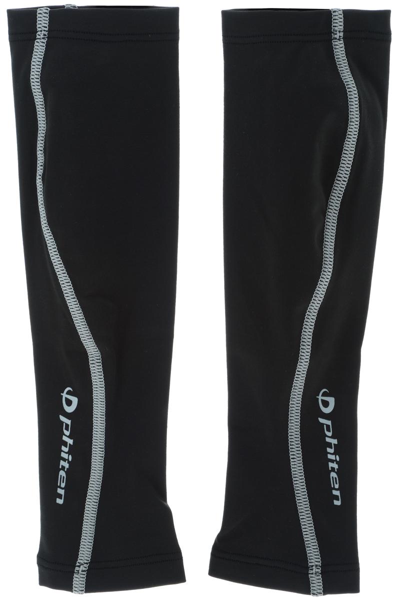 Гетры силовые Phiten  X30 , цвет: черный, серый. Размер S (30-37 см). SL524103 - Единоборства