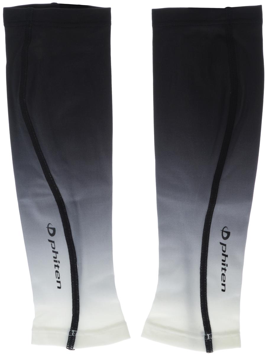 """Гетры силовые Phiten """"X30"""", цвет: черный, серый, белый. Размер L (36-43 см)"""
