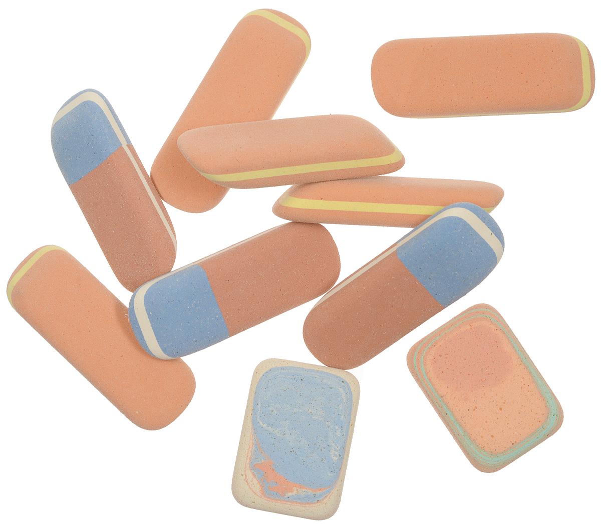 Koh-i-Noor Набор ластиков 10 шт6510Ластики Koh-i-Noor идеально подходят для применения как в школе, так и в офисе.Ластики обеспечивают высокое качество коррекции, не повреждают поверхность бумаги, даже при сильном трении, не оставляют следов.Абсолютно безопасны, не токсичны и экологичны.В упаковке 10 ластиков.