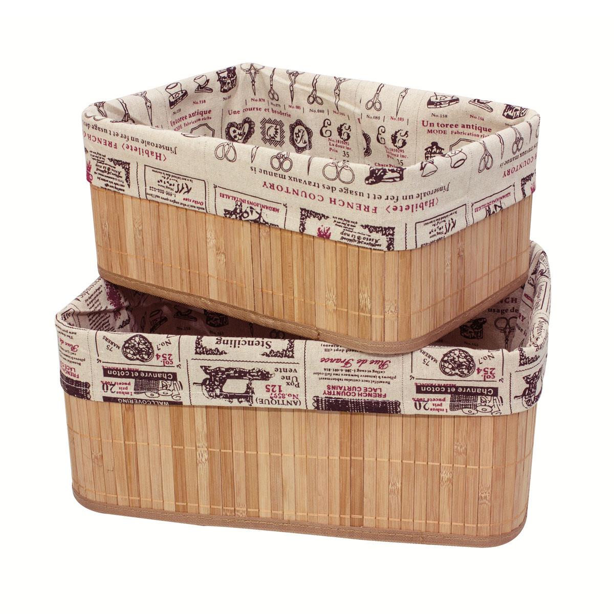 Набор коробов для хранения Ecowoo Ретро, цвет: светлое дерево, 2 шт коробки для хранения ecowoo ящики для хранения