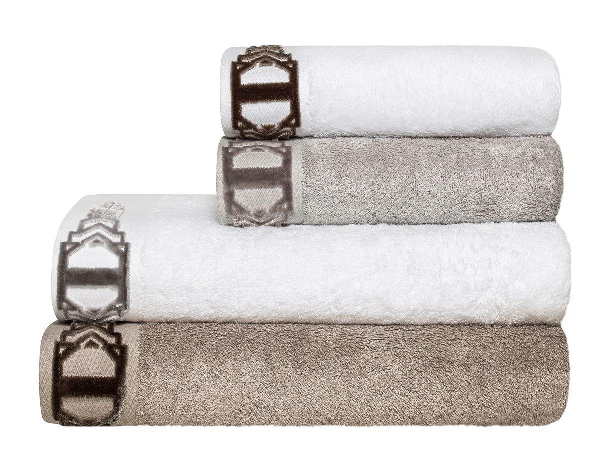 Набор полотенец Togas Арт Лайн, цвет: серый, белый, бежевый, 4 шт10.00.00.0614Набор Togas Арт Лайн состоит из 4 полотенец, оформленных выбитым рисунком из махровой ткани высочайшего качества. Ткань полотенец обладает высокой плотностью и мягкостью, отличается высоким качеством и длительным сроком службы. Такой набор станет отличным вариантом для практичной и современной хозяйки.