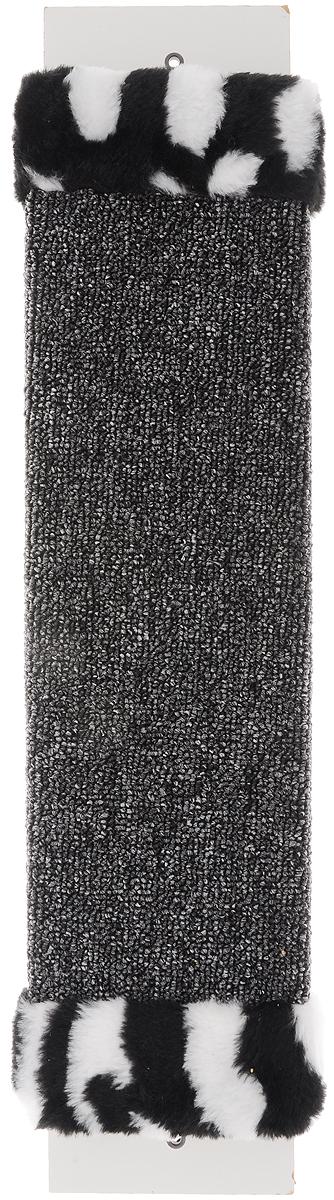 "Фото Когтеточка ""ЗооМарк"", настенная, цвет: темно-серый, черный, белый, 57 х 11 х 3,5 см"
