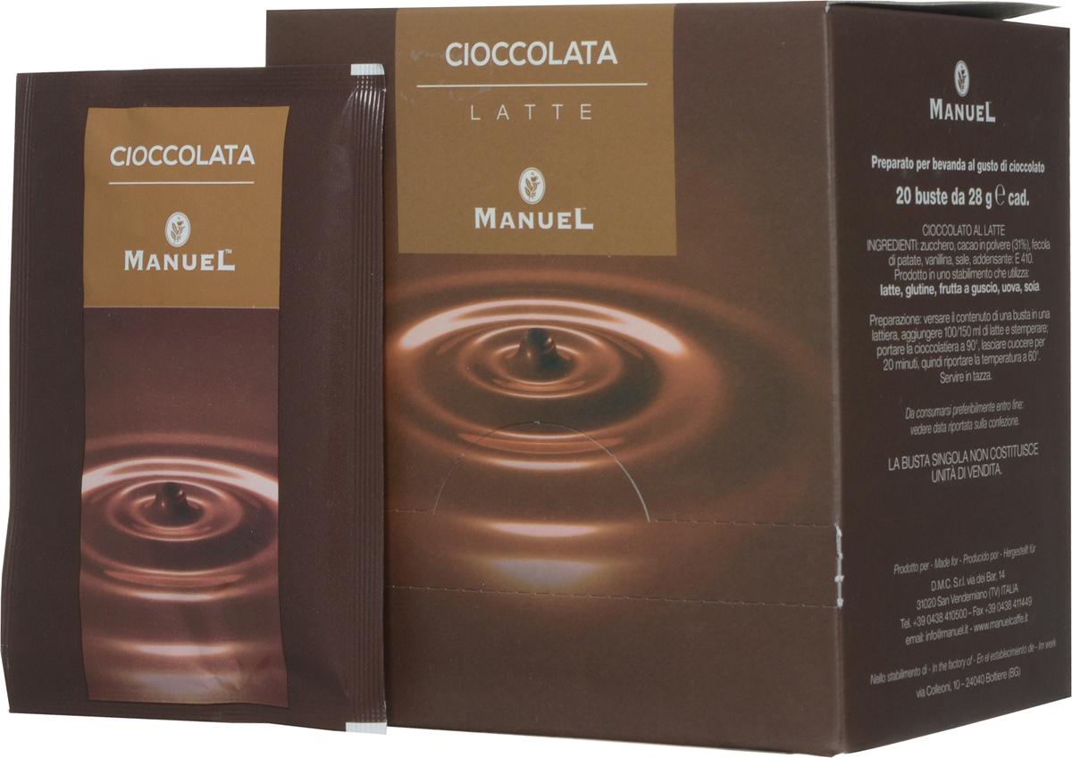 Manuel Chioccolata Latte горячий шоколад, 560 г8006536200107Горячий шоколад Manuel Chioccolata Latte – великолепный качественный напиток, изготовленный из отборных какао-бобов, произрастающих на премиальных плантациях. Характеризуется выразительным ярким вкусом и запоминающимся ароматом, наполненным нотками сливок и натурального шоколада.Он фасуется в сашеты, удобные для быстрого приготовления одной порции густого ароматного напитка.