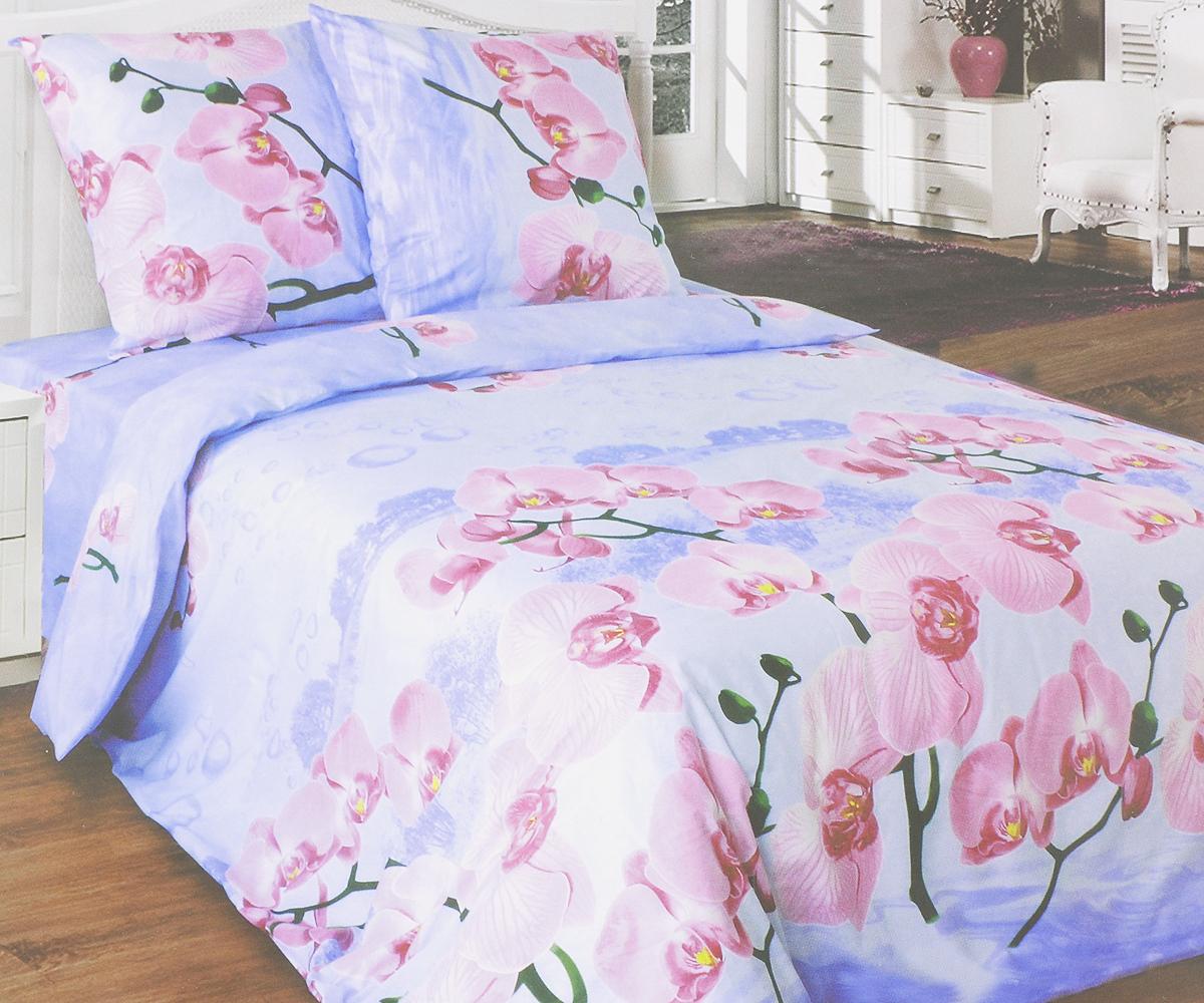 Комплект белья Катюша Орхидея, 2-спальный, наволочки 50х70, цвет: сиреневый, розовый, зеленыйC-265/4560Комплект постельного белья Катюша Орхидея является экологически безопасным для всей семьи, так как выполнен из бязи (100% хлопок). Комплект состоит из пододеяльника, простыни и двух наволочек. Постельное белье оформлено оригинальным рисунком и имеет изысканный внешний вид. Бязь - это ткань полотняного переплетения, изготовленная из экологически чистого и натурального 100% хлопка. Она прочная, мягкая, обладает низкой сминаемостью, легко стирается и хорошо гладится. Бязь прекрасно пропускает воздух и за ней легко ухаживать. При соблюдении рекомендуемых условий стирки, сушки и глажения ткань имеет усадку по ГОСТу, сохранятся яркость текстильных рисунков. Приобретая комплект постельного белья Катюша Орхидея, вы можете быть уверенны в том, что покупка доставит вам и вашим близким удовольствие иподарит максимальный комфорт.