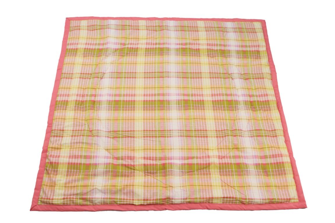 Чудо-Чадо Переносной коврик-сумка цвет коралловый клетка Чудо-Чадо