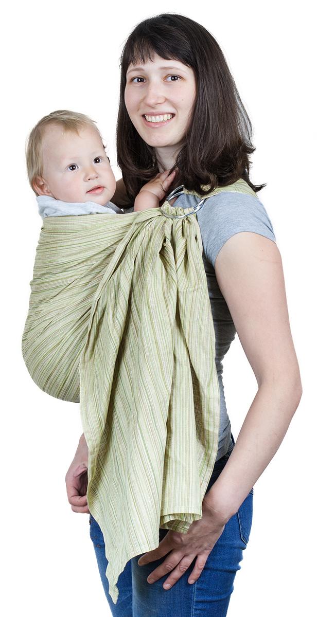 Чудо-Чадо Слинг с кольцами Лино Коктейль цвет оливковый