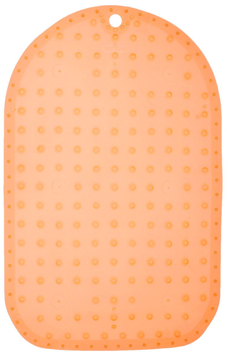 BabyOno Коврик противоскользящий для ванной цвет оранжевый 70 х 35 см