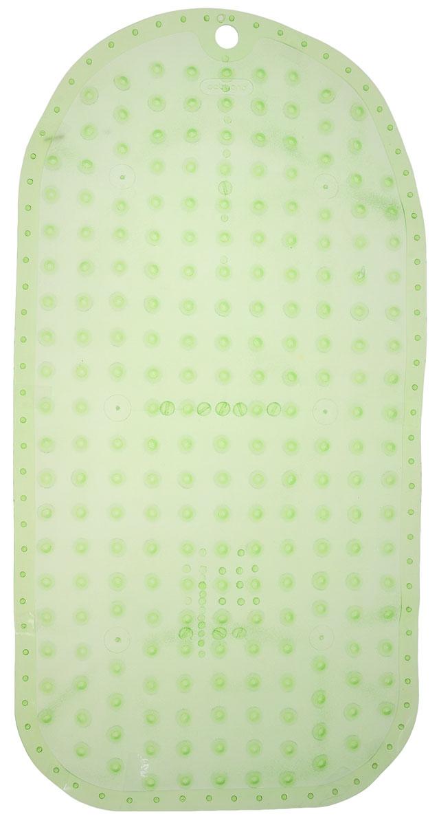 BabyOno Коврик противоскользящий для ванной цвет зеленый 70 х 35 см1346_зеленыйПротивоскользящий коврик BabyOno предназначен для детских ванночек, ванн и душевых кабин. Имеет присоски, исключающие перемещение коврика по поверхности.Для правильного закрепления коврика следует сначала наполнить ванну водой, а затем вложить коврик и равномерно прижать с каждой стороны.Во время купания ребенок должен находиться под постоянным присмотром взрослого. Перед первым и после каждого купания коврик следует промыть в теплой воде с добавлением детского мыла, ополоснуть и высушить. Изделие не является игрушкой. Хранить в месте, недоступном для детей. Не содержит фталатов.Товар сертифицирован.