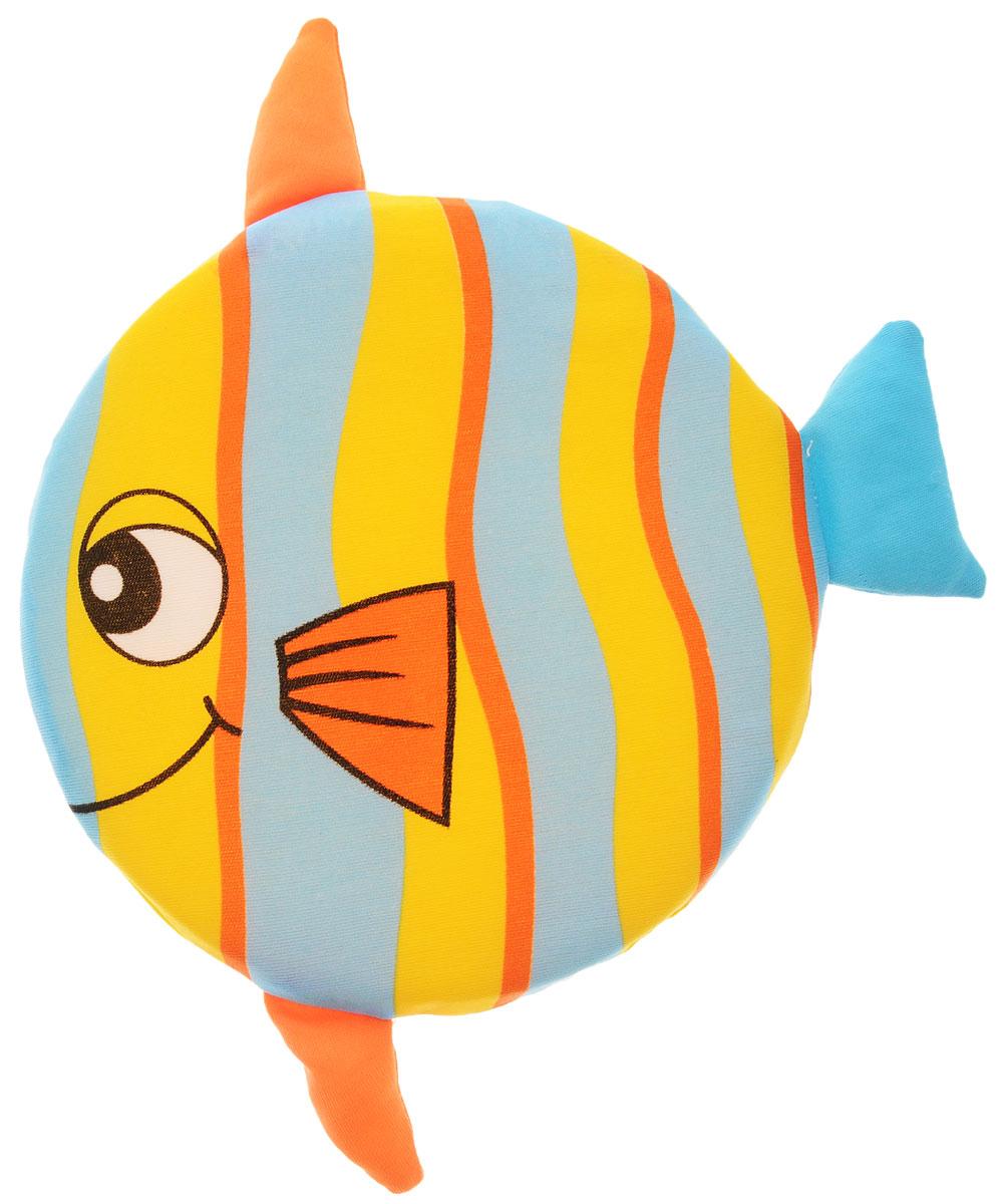 YG Sport Летающий диск Веселые животные Рыбка цвет желтый голубой оранжевый