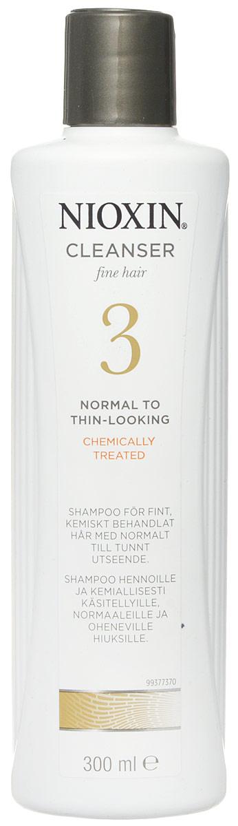 Nioxin Cleanser Очищающий шампунь (Система 3) System 3, 300 мл81274151Шампунь очищающий Система 3 Cleanser System 3 Nioxin бережно заботится о тонких и нормальных волосах, которые подверглись химической завивке. Средство увлажняет и смягчает кожу головы, защищает волосы от остаточных продуктов химических процедур. Также шампунь от Nioxin заботиться об интенсивности цвета окрашенных волос и придает им особенный блеск.