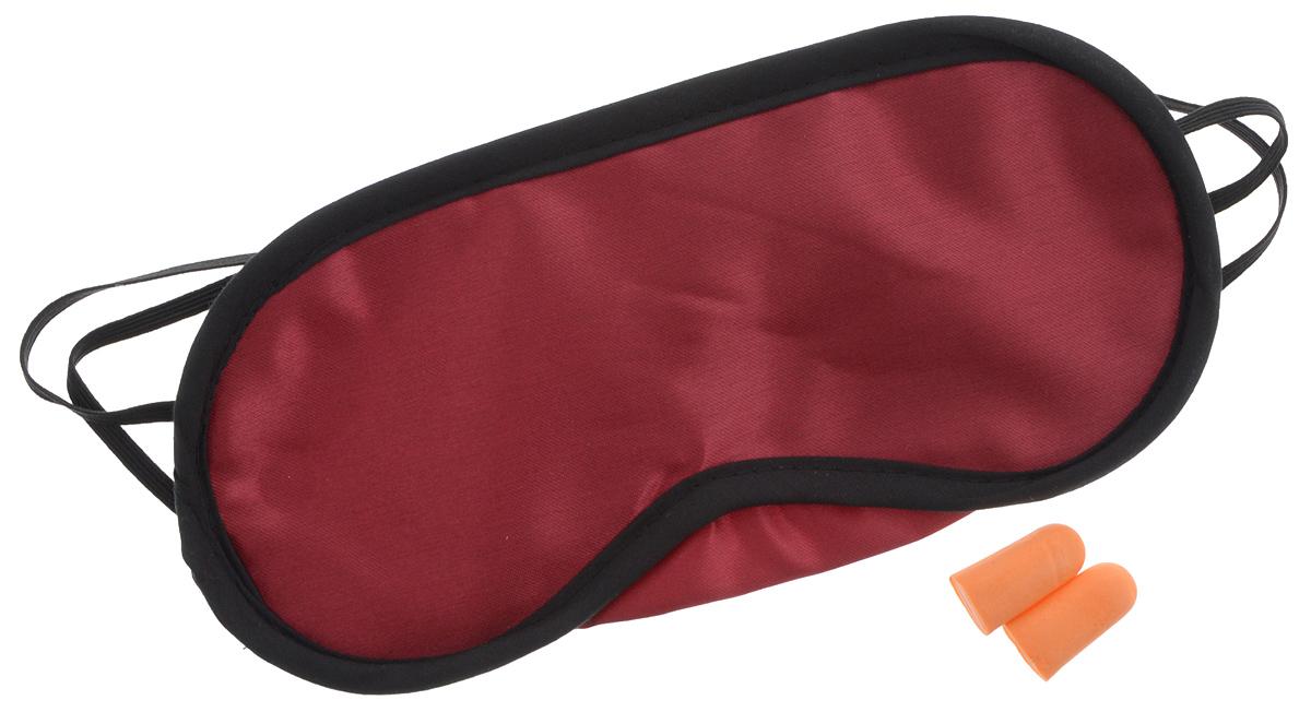 """Набор для сна """"Мультидом"""", цвет: бордовый, черный, 3 предмета"""