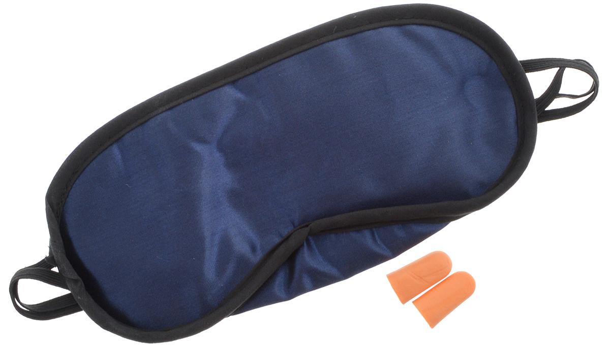 Набор для сна Мультидом, цвет: синий, черный, 3 предметаWD-84-98_синийВ набор входит все необходимое для спокойного путешествия - маска для сна и одна пара берушей. Удобная маска для сна, выполненная из полиэстера, поможет сохранить ваш сон даже при ярком дневном свете. Незаменима при длительных поездках и перелетах. Маска снабжена эластичной резинкой. Изделие подойдет для любого размера головы. Беруши, выполненные из вспененного поливинилхлорида, изолируют от внешнего шума и помогают снять напряжение.Набор для сна поможет вам поддержать красоту и отдохнуть, поспать в непривычных илинекомфортных условиях.Размер маски: 20 х 9,5 см.Длина берушей: 2,5 см.