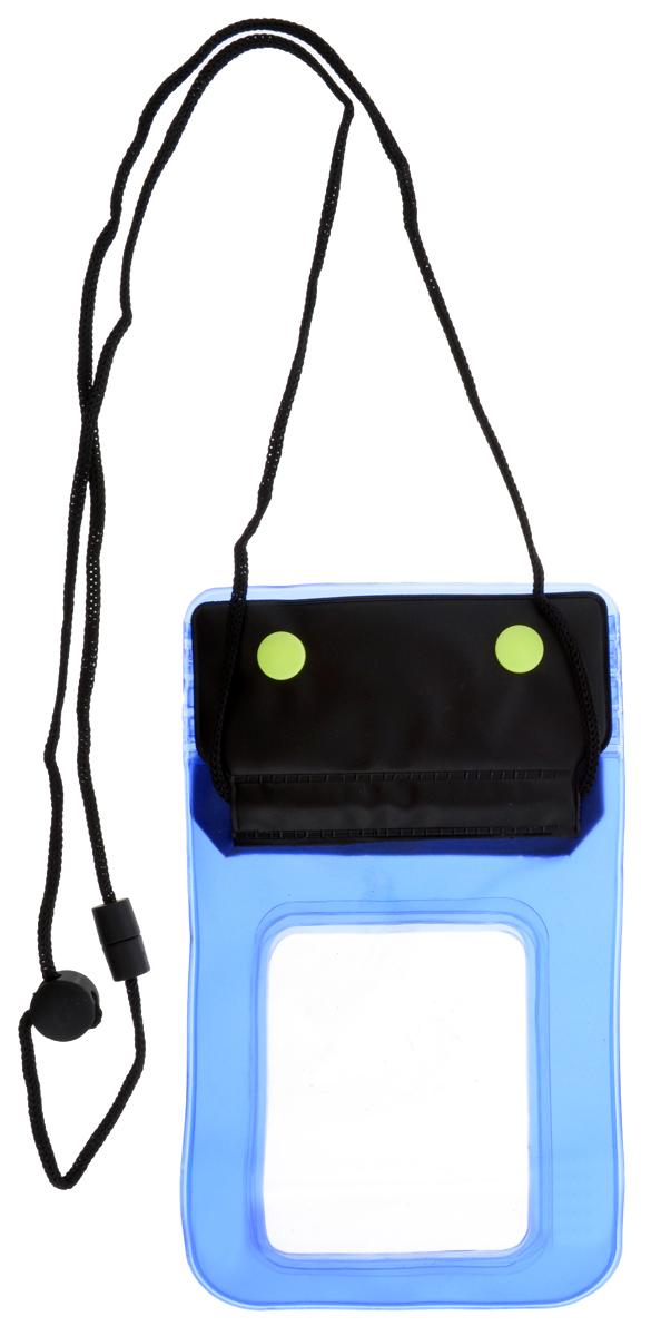 Чехол для телефона Мультидом, водонепроницаемый, 11 х 20 смWD84-126Водонепроницаемый чехол Мультидом, выполненный из поливинилхлорида, это практичный и стильный аксессуар для любителей активного образа жизни. Незаменим на отдыхе или морской прогулке. Несколько герметичных фиксаторов типа zip-lock предотвратят попадание влаги внутрь чехла, сохранив ваши вещи, документы, фотоаппарат от намокания и повреждения. Прочный синтетический шнур и пластиковые кнопки служат для закрепления чехла. Не предназначен для глубоководных погружений.