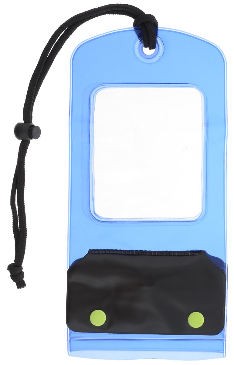 Чехол для телефона Мультидом, водонепроницаемый, 12 х 24 смWD84-125Водонепроницаемый чехол Мультидом, выполненный из поливинилхлорида, это практичный и стильный аксессуар для любителей активного образа жизни. Незаменим на отдыхе или морской прогулке. Несколько герметичных фиксаторов типа zip-lock предотвратят попадание влаги внутрь чехла, сохранив ваши вещи, документы, фотоаппарат от намокания и повреждения. Прочный синтетический шнур и пластиковые кнопки служат для закрепления чехла. Не предназначен для глубоководных погружений.