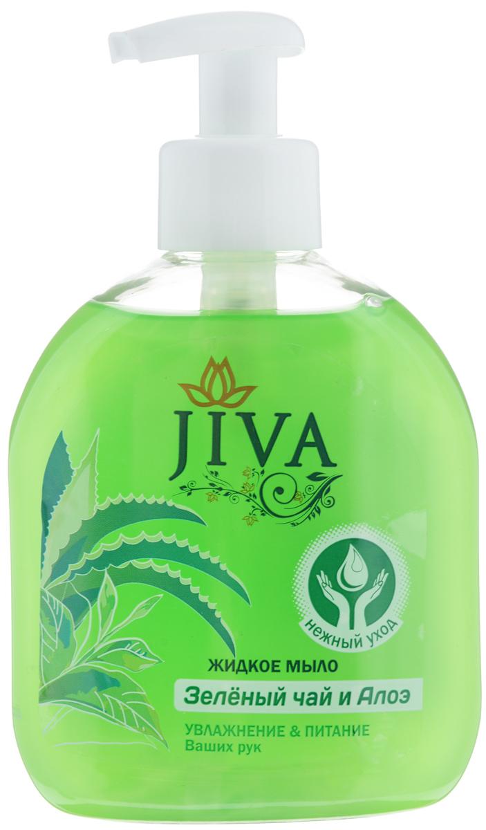 Мыло жидкое JIVA Зелёный Чай и Алое, 300 мл с дозатором44593/5-0531Эффективно очищает. Смягчает и питает. Увлажняет. Гипоаллергенная парфюмерная композиция.Яркий аромат.