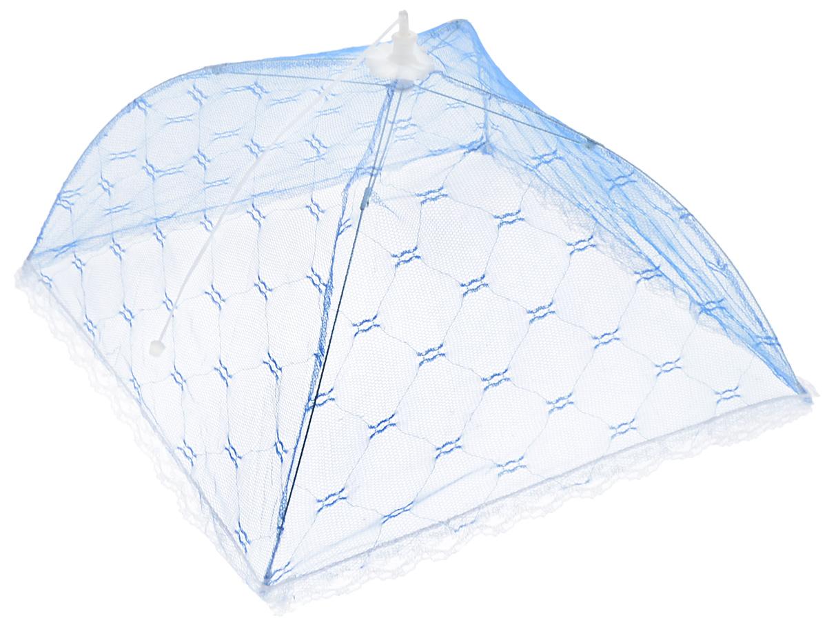 Зонт для продуктов Мультидом, цвет: синий, белый, 35 х 35 х 20 смFY84-15_синий, белыйЗонт для продуктов Мультидом изготовлен из полиэстеровой сетки с каркасом из пластика и металла. Изделие выполнено в виде квадратного купола, который легко собирается и разбирается. Таким зонтом очень удобно пользоваться на природе, он защитит ваши продукты от назойливых насекомых. Размер (в собранном виде): 35 х 35 х 20 см. Длина зонта (в сложенном виде): 33 см.