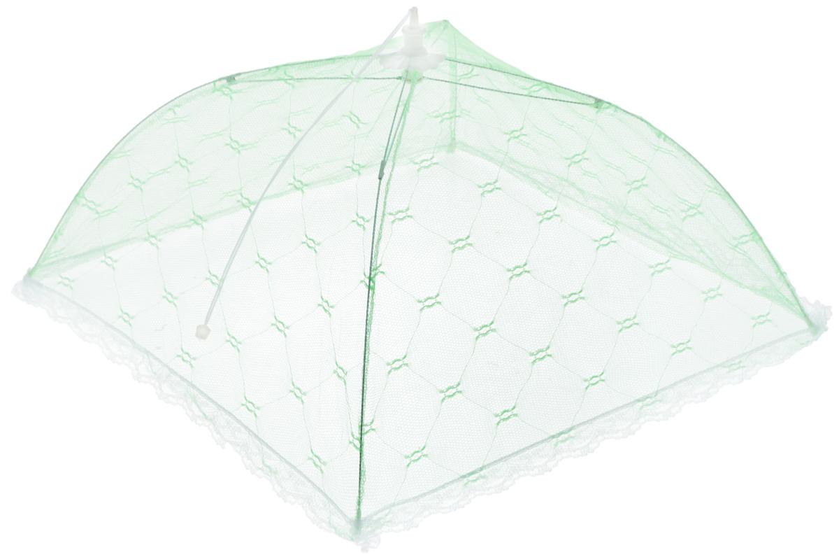 Зонт для продуктов Мультидом, цвет: зеленый, белый, 35 х 35 х 20 смFY84-15_зеленый, белыйЗонт для продуктов Мультидом изготовлен из полиэстеровой сетки с каркасом из пластика и металла. Изделие выполнено в виде квадратного купола, который легко собирается и разбирается. Таким зонтом очень удобно пользоваться на природе, он защитит ваши продукты от назойливых насекомых. Размер (в собранном виде): 35 х 35 х 20 см.Длина зонта (в сложенном виде): 33 см.