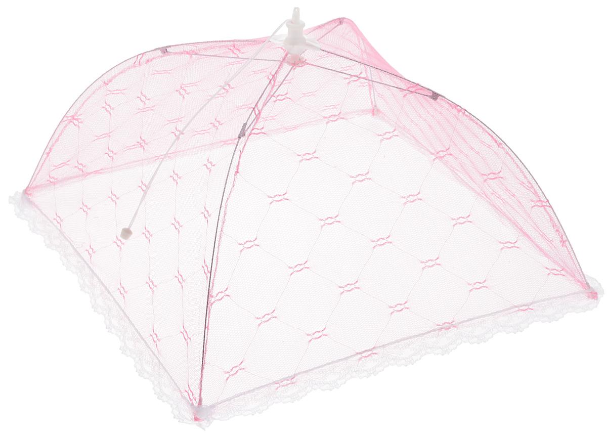 Зонт для продуктов Мультидом, цвет: розовый, белый, 35 х 35 х 20 смFY84-15_розовый, белыйЗонт для продуктов Мультидом изготовлен из полиэстеровой сетки с каркасом из пластика и металла. Изделие выполнено в виде квадратного купола, который легко собирается и разбирается. Таким зонтом очень удобно пользоваться на природе, он защитит ваши продукты от назойливых насекомых. Размер (в собранном виде): 35 х 35 х 20 см. Длина зонта (в сложенном виде): 33 см.